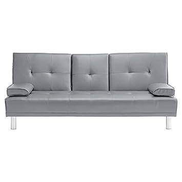 Sofa gepolstert Aufklappbar Schlaffunktion Wohnzimmer Couch 3 2 ...