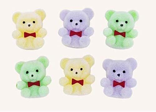 Miniature Assorted Pastel Flocked Teddy Bears