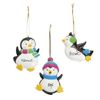 Resin Penguin Ornaments Christmas Holidays (12 pcs)