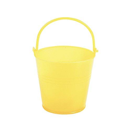 Fun Express Bright Yellow Plastic Pails (1 Dozen) -