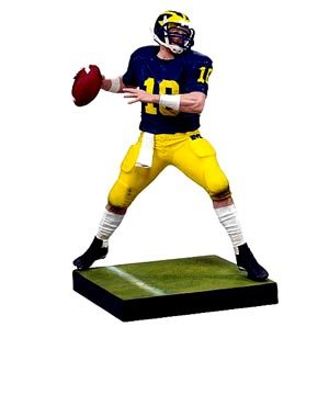 McFarlane Toys NCAA COLLEGE Football Sports Picks Series 1 Action Figure Tom Brady (Michigan Wolverines) by McFarlane