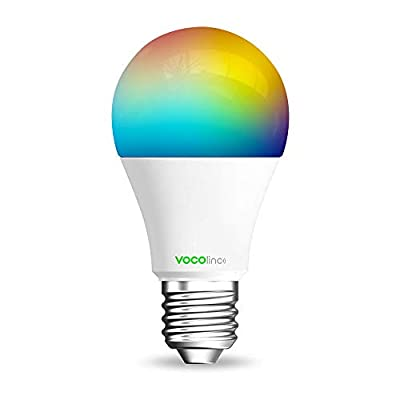 VOCOlinc Smart LED Light Bulb, Multicolor, Dimmable, Lighting Effects, Works with Apple HomeKit, Alexa and Google Assistant, No Hub Required, A19 E26, Wi-Fi 2.4GHz, L1