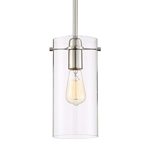 Contemporary Brushed Nickel 1 Light Pendant in US - 3