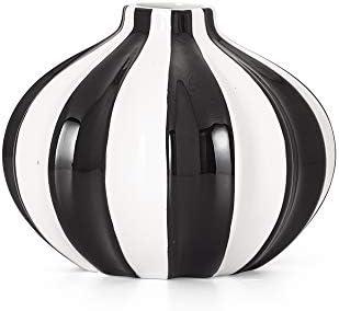Torre Tagus Abstract Vase, 5.5 , BLACK WHITE