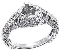 0.35 CTW Diamond Semi Mount Ring in Platinum Gold