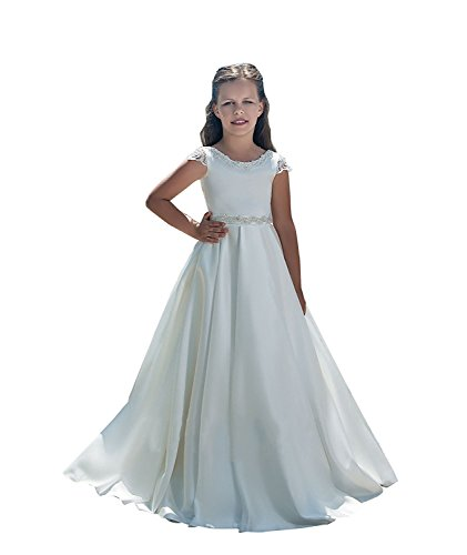 Banfvting Long Flower Girl Dresses With Bow Sashes Lace by Banfvting