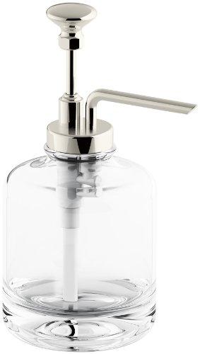 KOHLER K-98630-SN Artifacts Soap dispenser assembly, Vibrant Polished Nickel