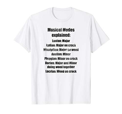 Music Teacher Gift Tshirt - Funny Musical Modes Explained