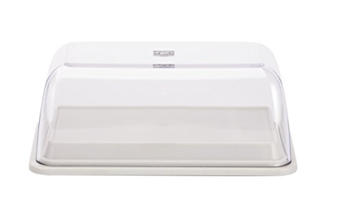 Zak Designs BPA-Free 6-in-1 All Purpose Serve and Storage Dish, White (Refrigerator Butter Dish compare prices)