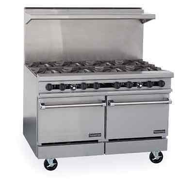 therma-tek-tmds48-8-2-gas-restaurant-range-48-eight-open-burners-two-20-space-saver-ovens