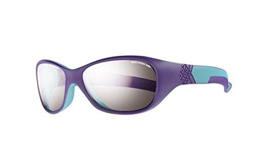 Julbo Solan Sunglasses Purple/Turquoise / Spectron 4 Baby Silver Flash & Towel