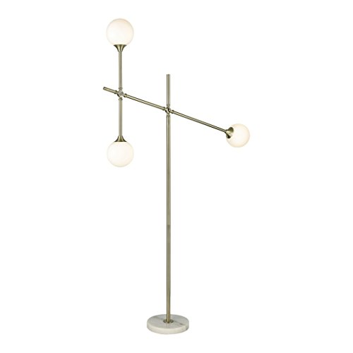 - Diamond Lighting D3261 Floor lamp Aged Brass, Frosted White