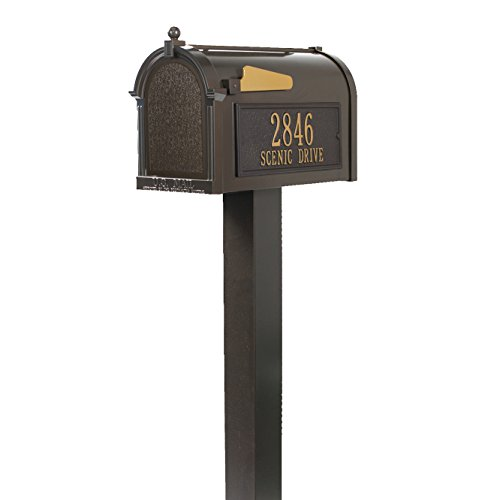 Whitehall Premium Mailbox Package (Whitehall Products Premium Mailbox Package, French Bronze)
