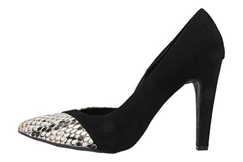 Andres Machado Damen High Heels - Schwarz Schuhe in Übergrößen