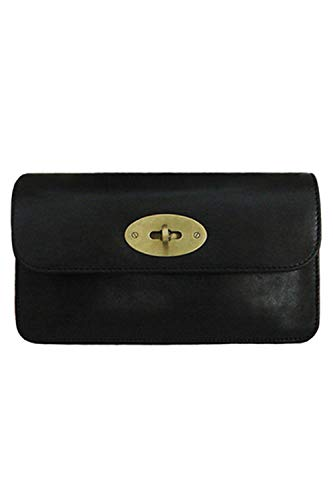 Lush Leather Turnlock Flap Black ()