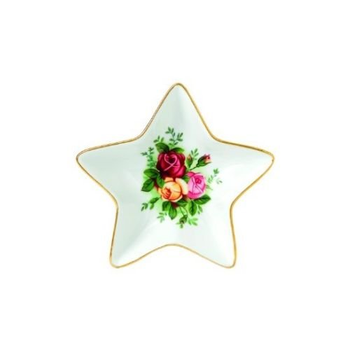 Royal Albert Old Country Roses Christmas Star Tray, 6.1
