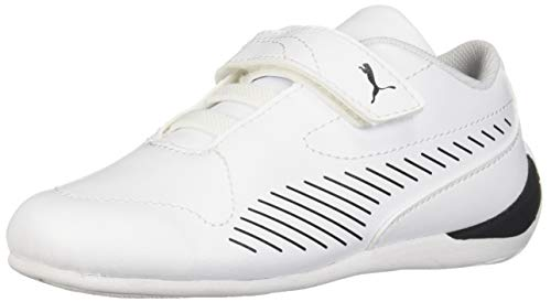 (PUMA Unisex Ferrari Drift Cat 7S Ultra Sneaker White- Black 6 M US Big Kid)