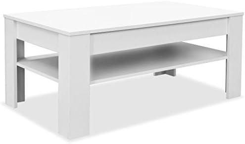 Shengfeng Table Basse Blanc Mat Table D Appoint Table De