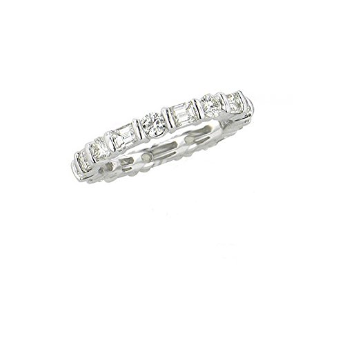 OUND DIAMOND ETERNITY BAND 18K White Gold -IDJ008917 ()