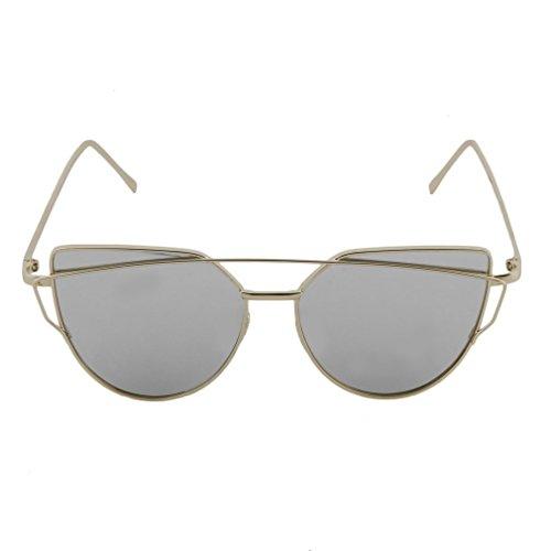 de étoile œil Ake UV Soleil Style Femme Chat d'été de réfléchissant Vacances pour Lunettes de Protection qwxpfv7