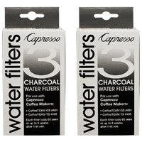 Capresso 4640.93-2PACK Charcoal Water Filter 2 Pack, 6 filters total (fits models 464 & 465)