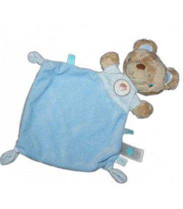Doudou plat ours bleu Tex Baby Carrefour Rocket Boy Moon étiquette fusée: Amazon.es: Bebé