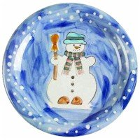 (Tabletops Unlimited Let It Snow Snowman Winter Christmas Dinner Plate)