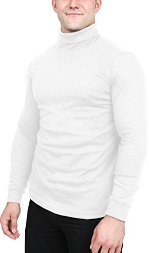 Utopia Wear Men's Turtleneck Shirt, Small (Wh...