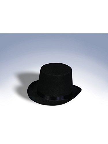Felt Top Hat,Black,One size -