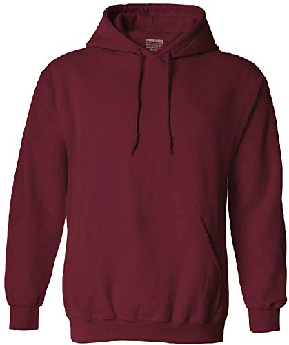 - Joe's USA Hoodies Soft & Cozy Hooded Sweatshirt,Large-Garnet