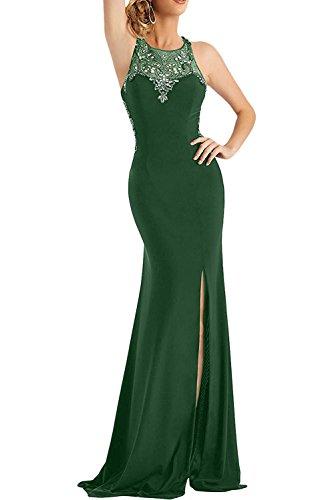 Abendkleider Braut Langes Marie Brautmutterkleider Bodenlang Ballkleider Dunkel Gruen Chiffon Elegant La 4x6XATwA
