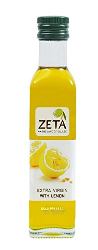 Zeta Olive Oil Lemon, 8.4500-ounces Glass(Pack of 3) - Fish Lemon Olive Oil