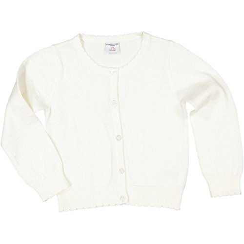 (Polarn O. Pyret Pointelle Cardigan Sweater (2-6YRS) - 2-3 Years/Egret)