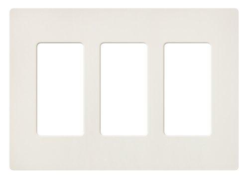 Lutron SC-3-BI Claro Three-gang Wallplate Biscuit