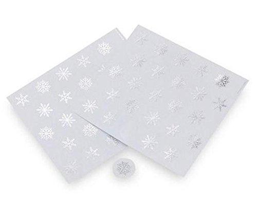 (Gartner Studios Silver Foil Snowflake Envelope Seals - 40 Count)