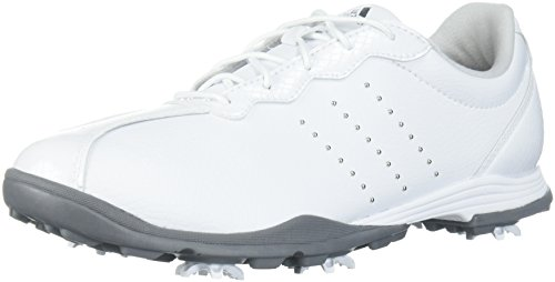 adidas Women's W Adipure DC Golf Shoe, FTWR White Silver met, 7 Medium US