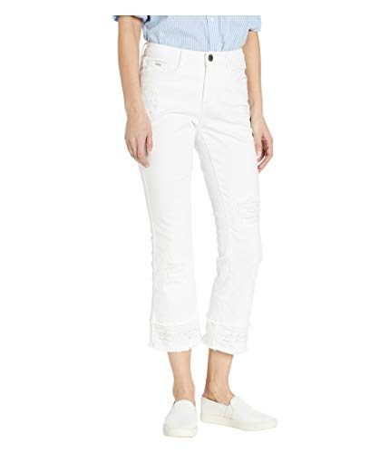 FDJ French Dressing Women's Olivia Slightly-Flared Cropped Jean with Pearly Frayed Hem