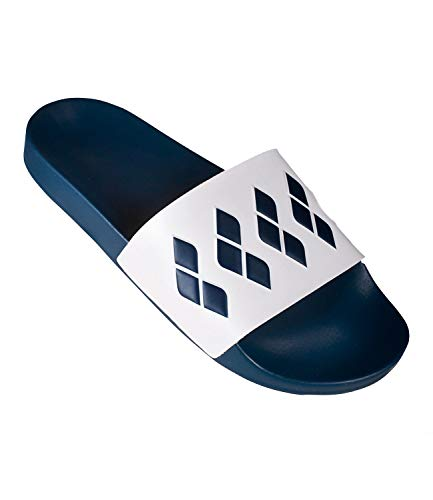 2018 Arena Team navy Sandals Stripe Unisex Slide white Badeschuhe White T7qTd8