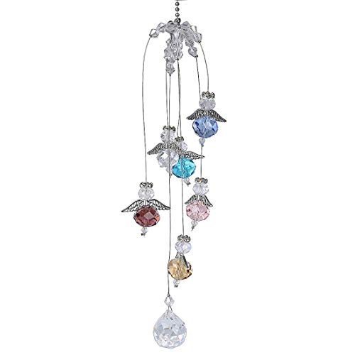 H&D Hanging Crystal Guardian Angel Window Sun Catcher Rainbow Maker 20mm Ball Prism (Angel Hanging Crystal)