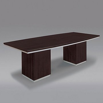 Pimlico 8' Boat Shaped Conference Table (Mocha) by OFF!