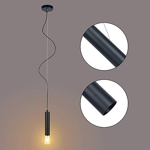 Alta Ilumina Industrial Pendant Light Fixtures for Dining Room,Kitchen Island Lights with E26 Base,Interior Ceiling Light for Living Room Bedroom,Pendant Lamps for Gallery,Decor Chandelier,Adjustable
