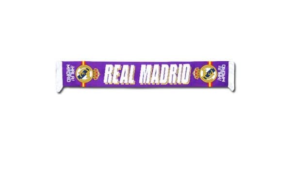 Real Madrid F.C. - Bufanda del Real Madrid, color blanco y ...