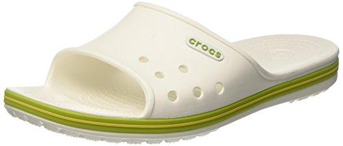 Crocs Unisex Crocband Ii Glid Sandal Vit / Volt Grön