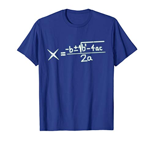 Quadratic Formula Algebra Math Lover Gift T-Shirt ()