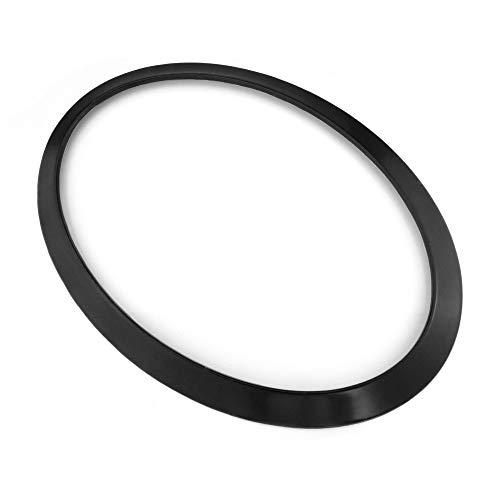 QIDIAN For Mini Cooper F56 F55 Car Headlight Front Head Tail Trim Rear Lamp Decoration Sticker Ring For MINI F56 For MINI Cooper Accessories (2PCSForHeadlight Black)