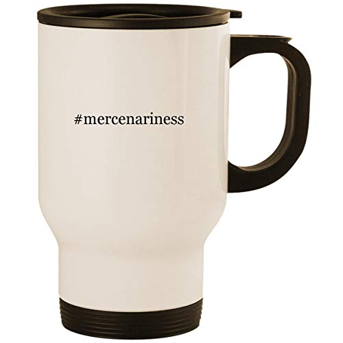 Price comparison product image #mercenariness - Stainless Steel 14oz Road Ready Travel Mug, White