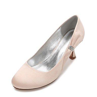 Las Mujeres'S Wedding Shoes Confort Satin Primavera Verano Boda Vestido De Noche &Amp; Rhinestone Bowknot Champán Heelivory Plana Rubí Azul US9.5-10 / EU41 / UK7.5-8 / CN42