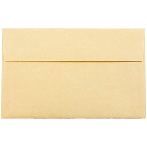 - JAM PAPER A10 Parchment Invitation Envelopes - 6 x 9 1/2 - Antique Gold Recycled - 50/Pack