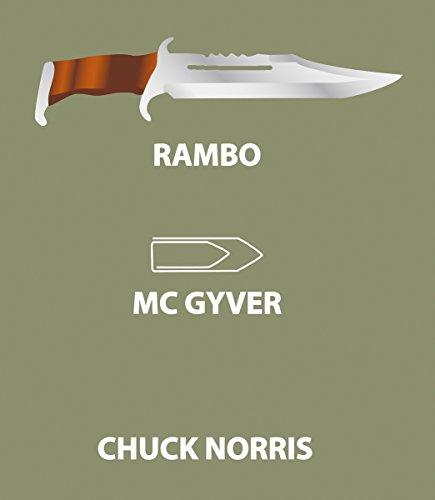 Rambo vs McGyver vs Chuck Norris T-Shirt