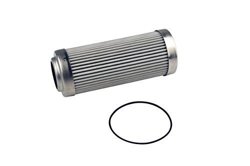 """Aeromotive 12639 Replacement Filter Element, 10-Micron Microglass, Fits All 2-1/2"""" OD Filter Housings"""